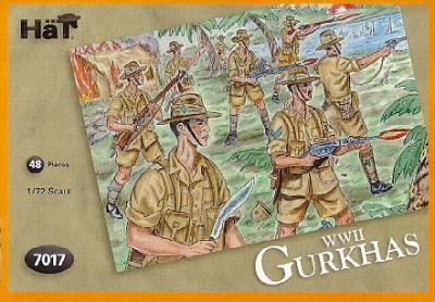 7017 - WW2 Gurkhas 1/72