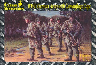 HB04 - German Army with Camouflage Cape 1/72