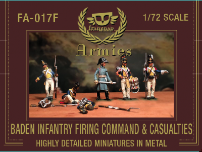 FA-017F Baden Infantry Firing Command & Casualties 1/72