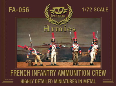 FA-056 French Infantry Ammunition Crew 1/72