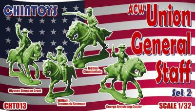 013 - ACW/American Civil War MOUNTED Union General Staff 2