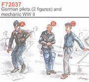72037 - 2 German (WWII) Pilots WWII + Mechanic 1/72