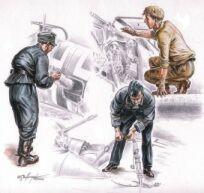 72078 - German (WWII) mechanics x 3 1/72