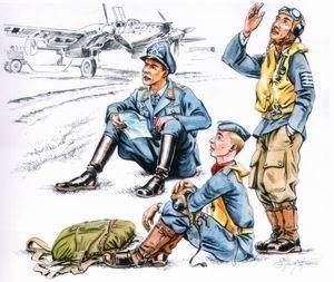 72112 - German (WWII) Pilots at rest WWII x 3 1/72