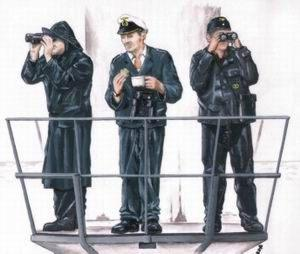 72116 - 3 x crew figures for U-Boat Type VIIc 1/72