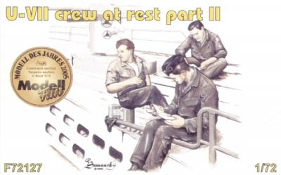 72127 - 3 x crew figures at rest set 2 for U-Boat Type VIIc 1/72