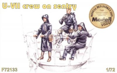 72133 - 3 x crew figures on sentry duty for U-Boat Type VIIc 1/72
