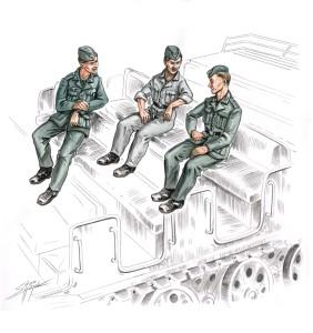 72156 - German (WWII) Soldiers for Sd.Kfz.9/1 Famo x 3 1/72