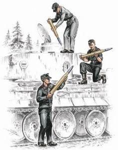 72157 - German (WWII) Armourers for Pz.Kpfw.VI Tiger I (3 figures) 1/72