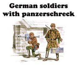 72161 - German (WWII) soldiers with Panzerschrek 1/72
