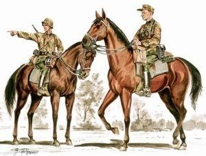 72180 - Wehrmacht mounted infantry x 2 1/72