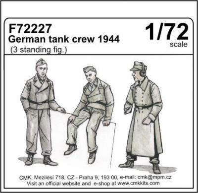 72227 - German 1944 tank crew x 3 standing figures 1/72