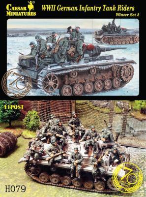 H079 - WW2 German Infantry Tank Riders Winter Set 2 1/72