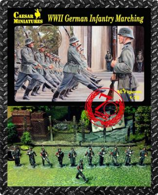 081 - German Infantry Marching WWII 1/72