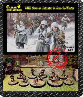 083 - German Infantry wearing Winter Smocks WWII 1/72