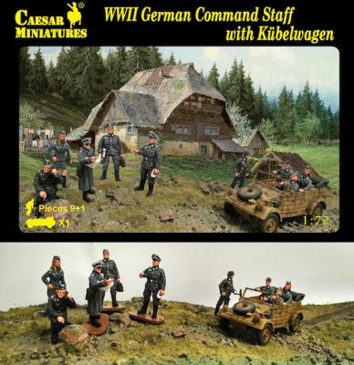 H095 - German Command Staff with Kubelwagen 1/72