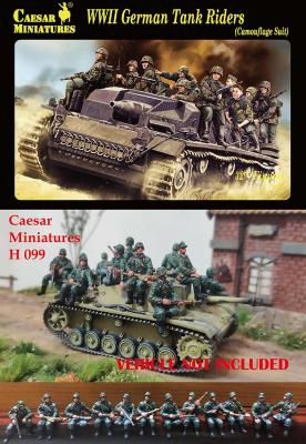 099 - WWII German Tank Rider (Camouflage Suit) 1/72