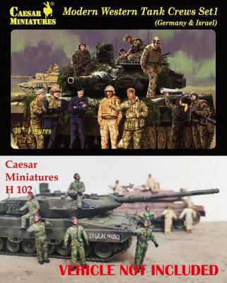 102 - Modern Western Tank Crews Set 1 (Germany & Israel) 1/72