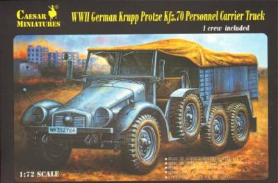 7207 - German Frupp Protze KFZ. 70 Per - Carrier Truck 1/72