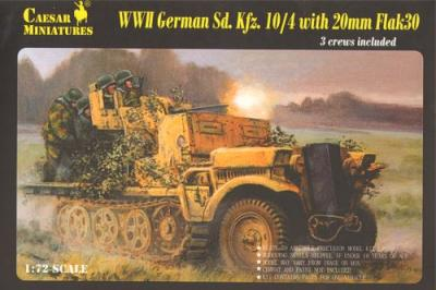 7208 - WWII German SD. KFZ. 10/4 with 20mm Flak 30 1/72