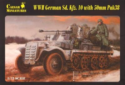 7209 - WW2 German SD.KFZ. 10 with 50mm PAK 38 1/72