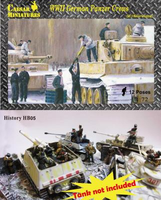 HB05 - WWII German Panzer Crews (Sets 2) 1/72