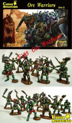 109 - Orc Warriors Set 2 1/72