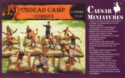 110 - Undead Camp : Zombies 1/72