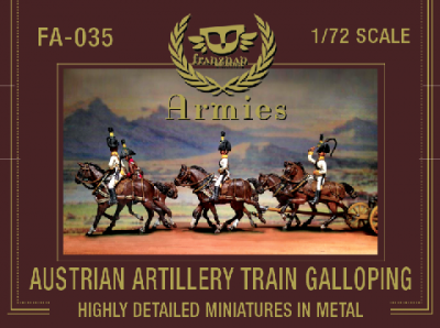 FA-035 - Austrian Artillery Train Galoping 1/72