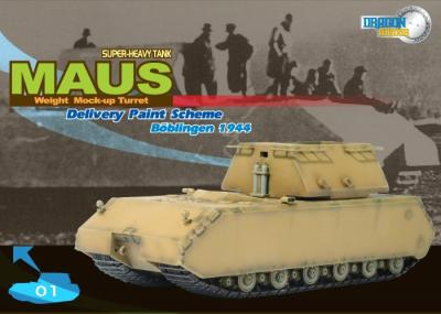 60156 - Maus Superheavy Tank in Delivery Scheme with Prototype turret 1/72