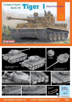 7482 - Pz.Kpfw.VI Tiger 1 Early version 1/72