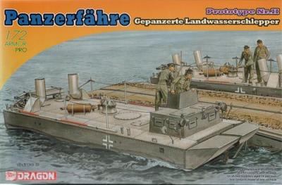 7490 - Panzerfahre Gepanzerte Landwasserschlepper armoured boat 1/72