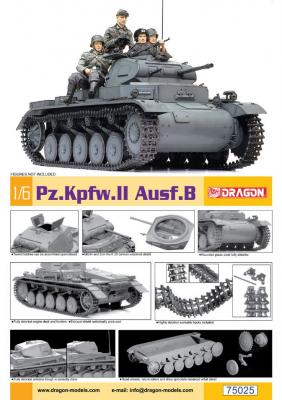 75025 - Pz.Kpfw.II Ausf.B 1/6
