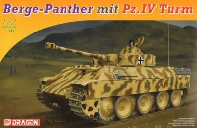 7508 - BergePanther mit aufgesetztem Pz.Kpfw.IV turm als Befehlpanzer 1/72