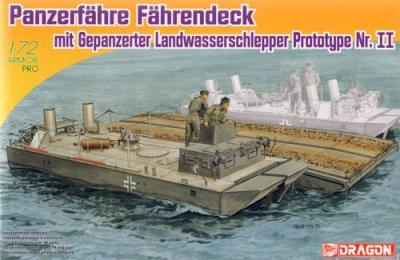 7509 - Panzerfähre Fährendeck mit Gepanzerter Landwasserschlepper Prototype Nr. II 1/72