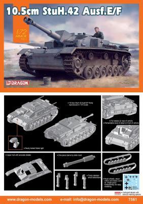 7561 - 10.5cm StuH.42 Ausf.E/F 1/72