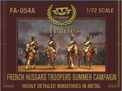FA-054A French Hussars troopers on march Summer Campaign Dress 1/72