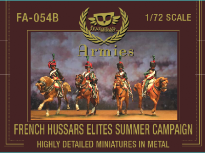 FA-054B French Hussars Elites on march Summer Campaign Dress 1/72