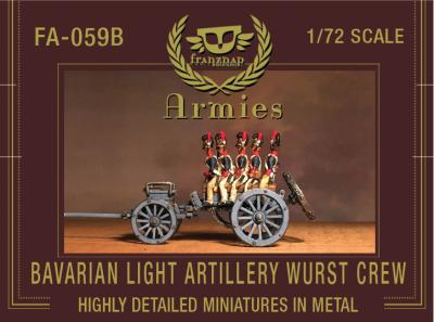 FA-059B Bavarian Light Artillery Wurst Crew 1/72