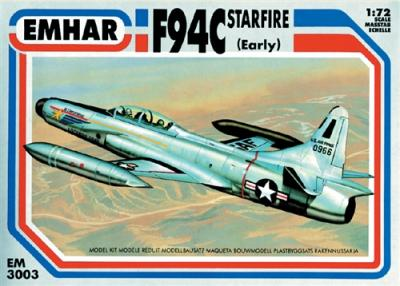 3003 - Lockheed F-94C Starfire early version 1/72