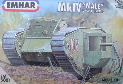 5001 - British Mk IV 'Male' Tank 1/72
