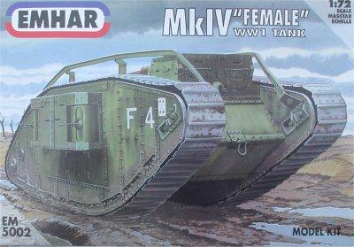 5002 - British Mk IV 'Female' Tank 1/72