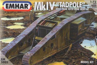 5005 - British Mk IV 'Tadpole' Tank 1/72