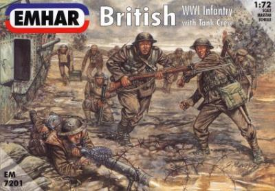 7201 - British WWI Infantry with Tank Crew 1/72