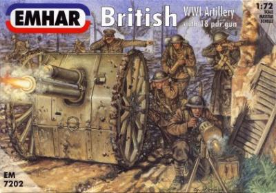 7202 - British WWI Artillery 1/72