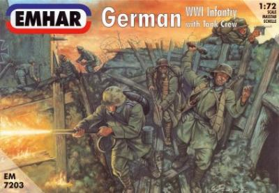 7203 - German WWI Infantry with Tank Crew 1/72