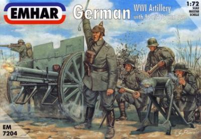 7204 - German WWI Artillery 1/72