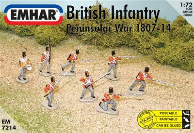 7214 - British Infantry Peninsular War 1/72