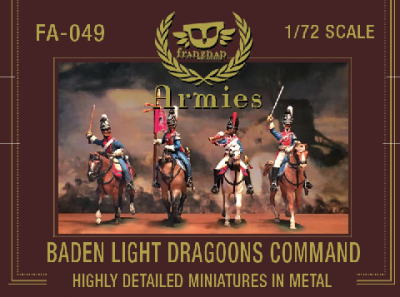 FA-049 Baden Light Dragoons Command 1/72