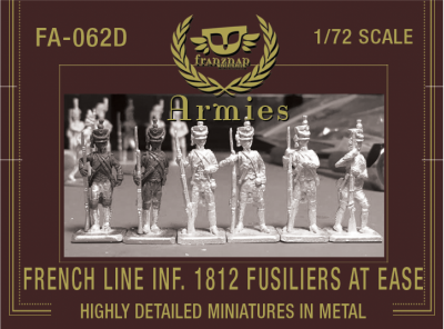 FA-062D French Line Infantry 1812 Fusiliers At Ease 1/72